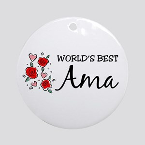WB Mom [Basque] Ornament (Round)